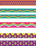 Multiple Decorative Borders in Bright, Vibrant Colors and Patterns. To be used individually Royalty Free Illustration
