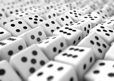 Multiple dice gambling business background for presentation Stock Image