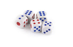 Multiple dices Stock Image