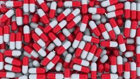 Multiple drug capsules or pills. 3D rendering. Multiple drug capsules or pills Stock Images