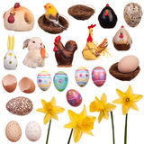Multiple easter goods (isolated) - set Royalty Free Stock Photo