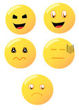 Multiple emoticons Royalty Free Stock Image