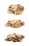 Multiple euro coins isolated Stock Photography