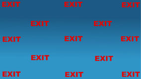 Multiple exit sign Royalty Free Stock Photos