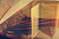 Multiple exposure of books Stock Image