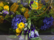 Multiple exposure of flowers Royalty Free Stock Images