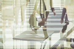 Multiple exposure image of businessman walking Stock Images