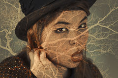 Multiple Exposure Portrait Royalty Free Stock Images