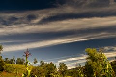 Multiple exposure of some loops in the clouds royalty free stock images