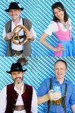 Multiple faces of bavarian people Stock Image