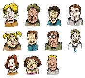 Multiple faces illustrated Royalty Free Stock Photos