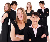 Multiple faces of two businesswomen Royalty Free Stock Photos