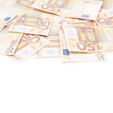 Multiple fifty euro bank notes Royalty Free Stock Photo
