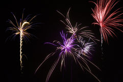 Multiple fireworks Royalty Free Stock Image