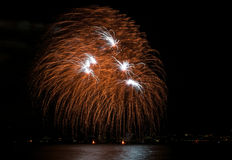 Multiple fireworks Stock Photography