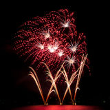 Multiple fireworks Royalty Free Stock Photos