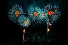 Multiple fireworks Royalty Free Stock Photos