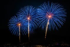 Multiple fireworks Royalty Free Stock Images