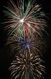 Multiple fireworks display Stock Photo