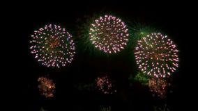 Multiple fireworks explosion stock video footage