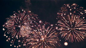 Multiple fireworks. 4th of July, New Year celebration. stock footage