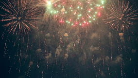 Multiple fireworks. 4th of July. stock footage