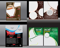 Multiple flyer template design set Stock Image
