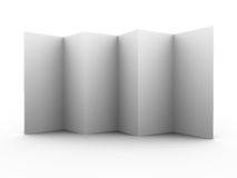 Multiple folded 3d leaflet Royalty Free Stock Photos