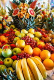 Multiple Fruits on a Luxury Buffet Stock Images