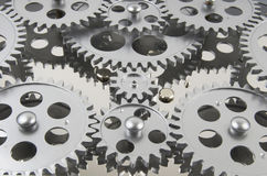 Multiple,Gearing, Layered Stock Photo