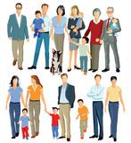 Multiple generations of family Royalty Free Stock Images