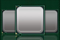 Multiple Generic CPU Chips Data - Blank Royalty Free Stock Image