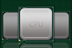Multiple Generic CPU Chips Data - Labeled Royalty Free Stock Photography