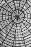 Multiple glass windows as part of domed ceiling. Black and white Stock Photography
