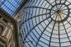 Multiple glass windows as part of domed ceiling. Horizontal form Royalty Free Stock Photos