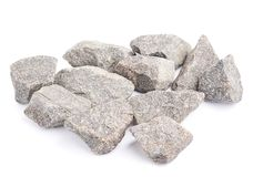 Multiple granite stones composition isolated Stock Image