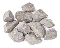 Multiple granite stones composition isolated Royalty Free Stock Images