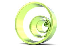 Multiple Green rings inside each other Royalty Free Stock Photos