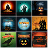 Multiple Halloween background poster ad collection Stock Image