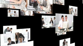 Multiple hd shots of an office environment with men workign together stock video