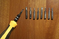 Multiple-Head Screw Driver Royalty Free Stock Photos