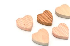 Multiple heart-shaped timber Stock Images