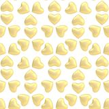 Multiple heart shapes as a background. Multiple golden heart shapes as a background composition Stock Image