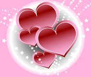 Multiple Hearts on Abstract Background. eps 8 Royalty Free Stock Images
