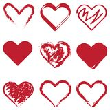 Multiple Hearts stock images