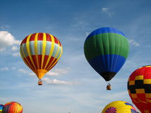 Multiple hot air balloons Stock Photos