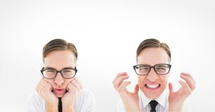 Multiple image of man with different expressions Stock Photo