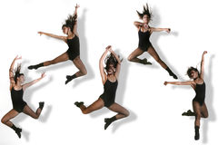 Multiple Images of a Modern Dancer Stock Photo
