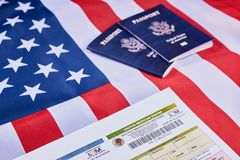 Multiple immigration form royalty free stock images