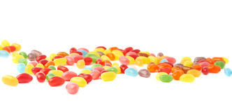Multiple jelly bean candy sweets composition Stock Image